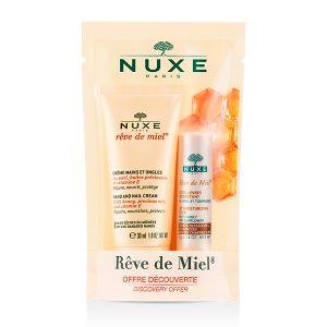 Nuxe Rêve De Miel Creme Mãos E Unhas + Nuxe Rêve De Miel Stick De Lábios Hidratante