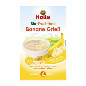 Holle Bio Papa Semolina E Banana 6 Meses