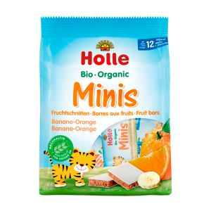 Holle Bio Barras Mini Banana E Laranja 12 Meses