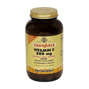 Solgar Vitamina C 500Mg Laranja Comprimidos Mastigáveis