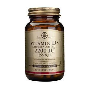 Solgar Vitamina D3 2200Ui 55ΜG Cápsulas