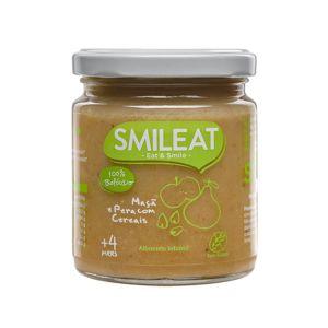 SMILEAT - Boião Pera e Maçâ com Cereais Biológico