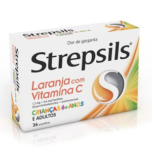 Strepsils Laranja Vitamina C Pastilhas