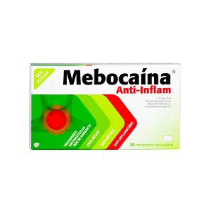 Mebocaína Anti-Inflamatório Pastilhas