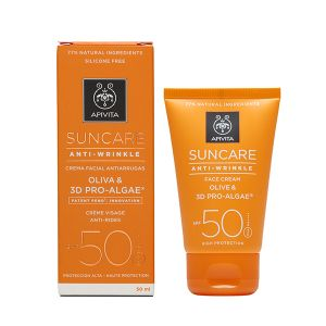 Apivita Proteção Solar Creme Rosto Antirrugas SPF50