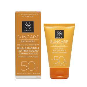 Apivita Proteção Solar Creme Rosto Antimanchas FPS50