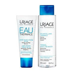 Uriage Eau Thermale Creme De Água Ligeiro FPS 20 + Água Micelar Termal Pele Normal