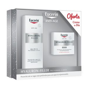 Eucerin Hyaluron-Filler Noite + Oferta Hyaluron-Filler Dia Pele Normal A Mista