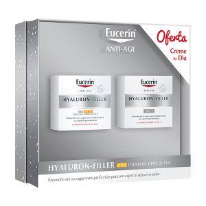 Eucerin Hyaluron-Filler Noite + Oferta Hyaluron-Filler Dia FPS30