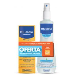 Mustela Bebé Leite Solar Rosto FPS 50+ Oferta Água Refrescante Perfumada