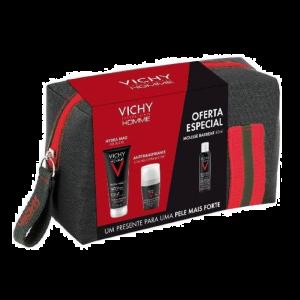 Vichy Homme Coffret Hydra Mag + Deo Oferta Bolsa e Mousse Barbear