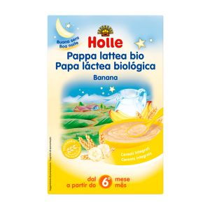 Holle Bio Papa Láctea Banana 6 Meses