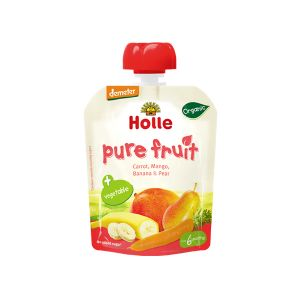Holle Bio Puré Cenoura + Frutos 6 Meses Saqueta