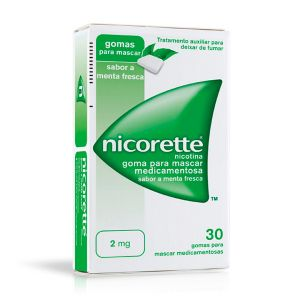 Nicorette 2 Mg Gomas Menta Fresca (30 gomas)