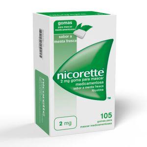 Nicorette 2 Mg Gomas Menta Fresca (105 gomas)