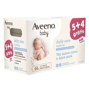 Aveeno Baby Toalhitas 5 + 4 Grátis