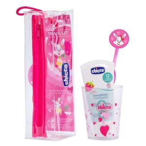 Chicco Conjunto de Higiene Oral Chicco Menina