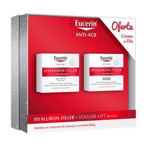 Eucerin Hyaluron-Filler + Volume-Lift Noite + Oferta Hyaluron-Filler + Volume-Lift Dia Pele Seca