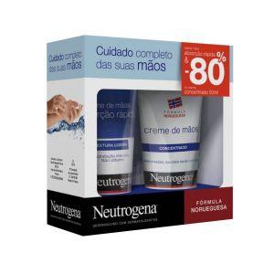 Neutrogena Pack Mãos Creme Absorção Rápida + Creme Concentrado