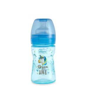 Chicco Fantastic Love Biberão 0M+ Fluxo Regular Azul