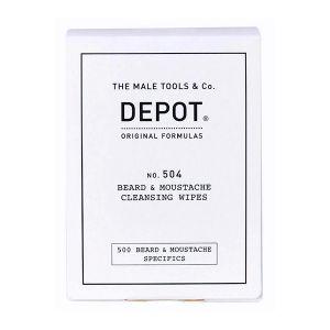 Depot N. 504 Toalhetes De Limpeza Para Barba E Bigode
