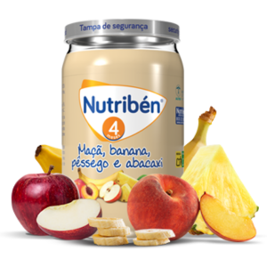 Nutribén Boião Maçã Banana Pêssego Abacaxi