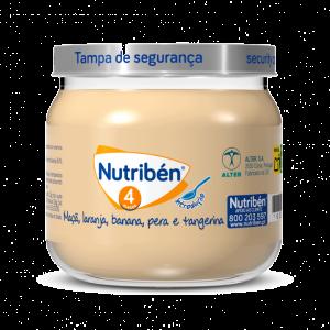 Nutribén Boião Maçã, Laranja, Banana, Pera e Tangerina