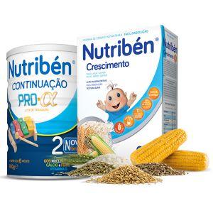 Nutribén Pack Leite Continuação Pró-Alfa 2 800g Oferta Papa Não Láctea Crescimento 300g