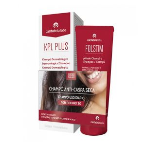 KPL Plus Champô Dermatológico Anti-Caspa Oferta Folstim Physio Champô