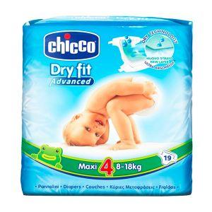 Chicco - Fraldas Dry Fit Advanced T4 19 unidades