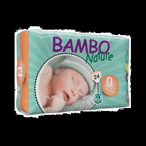 Bambo Nature Fraldas Prematuro 1-3kg