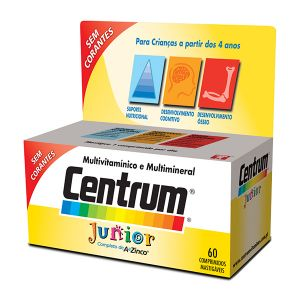 Centrum Júnior Comprimidos Mastigáveis - 60 Comprimidos