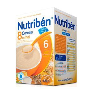 Nutribén 8 Cereais e Mel Papa não Láctea