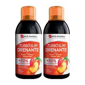 Turboslim Drenante Pêssego/Chá Verde Solução Oral Duo