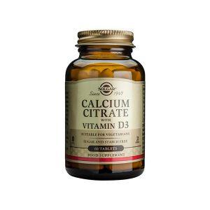 Solgar Citrato De Cálcio + Vitamina D3 Comprimidos