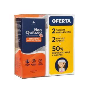 Neo Quitoso Plus Solução Cutânea Oferta 2 Toalhas Descartáveis + 2 Fitas de Cabelo