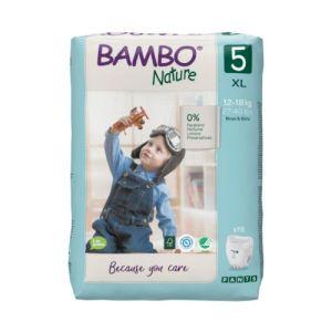 Bambo Nature Fraldas Cueca T.5 12-18Kg 19 Unidades