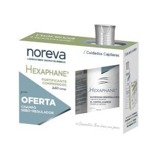 Noreva Hexaphane  Fortificante Comprimidos + Champô Seborregulador