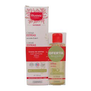 Mustela Maternidade Pack Creme Estrias C/Perfume + Óleo Estrias Bio