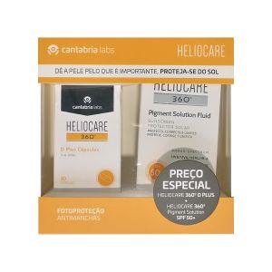 Heliocare 360º Pack (D Plus Cápsulas + Pigment Solution Fluid FPS50+)