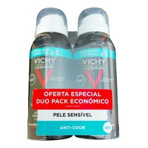 Vichy Homme Desodorizante Tolerância Óptima - Pack