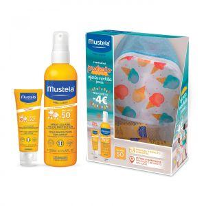 Mustela Solar Mochila Proteção Leite Rosto + Spray FPS 50+