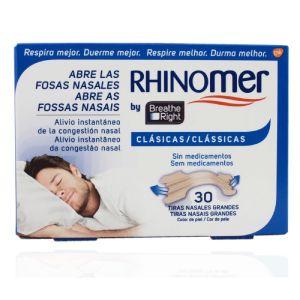 Rhinomer by Breathe Right Clássicas Tiras Nasais Pequenas/Médias