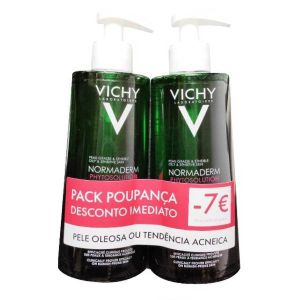 Vichy Normaderm Phytosolution Gel de Limpeza Purificante Pack Duo