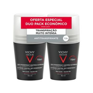 Vichy Homme Roll-On Antitranspirante Controlo Extremo 72H - Duo
